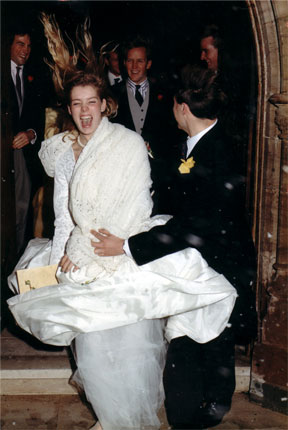 Hugo and Alice were married in Belmont Abbey in Hereford on the 8th December 1990.